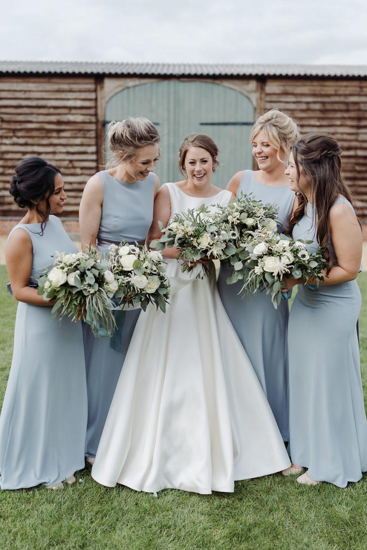 bridesmaids bridal party photos at primrose hill farm