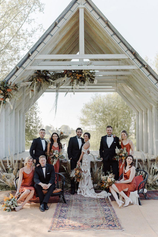 boho couples destination wedding bridal party rue de sien dress