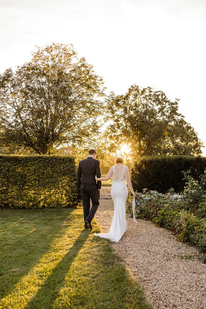 bride and groom couples portraits at golden hour primrose hill farm