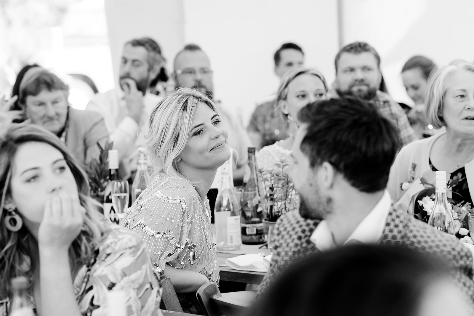speeches Boho marquee wedding cotswolds