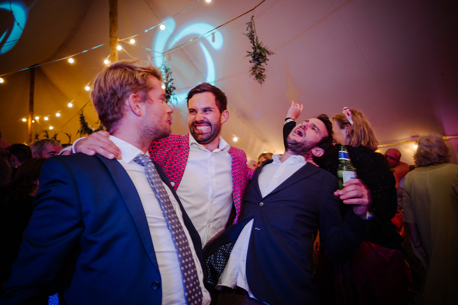 dancing guests Boho marquee wedding cotswolds