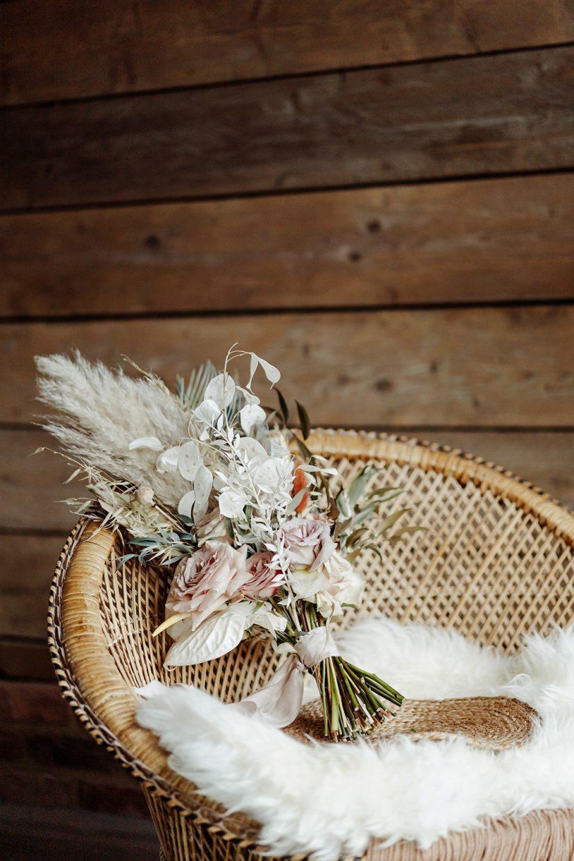 destination boho wedding dried wild flowers