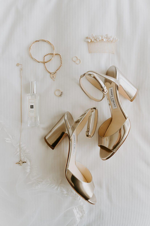 december-london-micro-wedding-jimmy-choo-shoes-flatlay