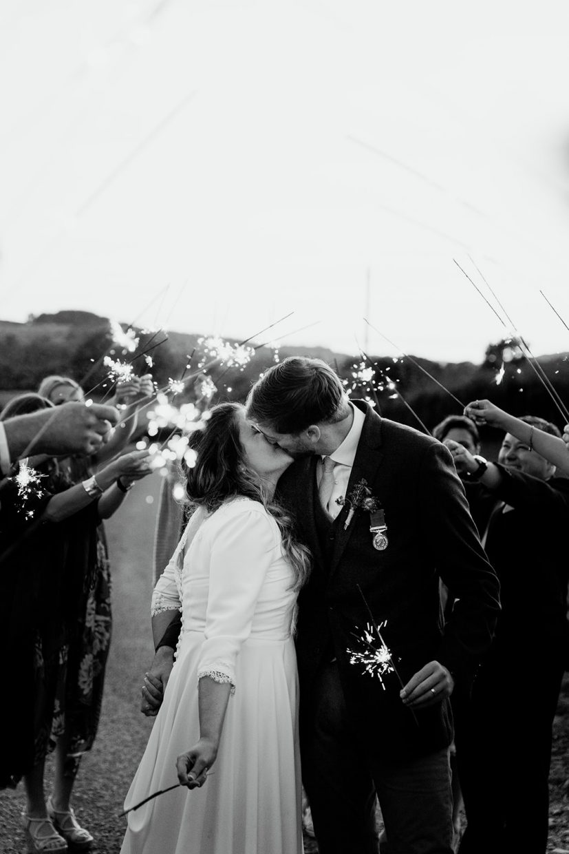 couples sparkler photos at wedding in wales wilde lodge